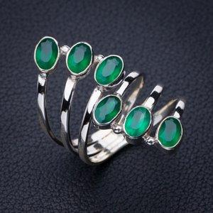 Stargems Natürliche Chrysoprasöffnung Handgemachte 925 Sterling Silber Ring 8.5 E2759 W1231