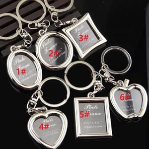 إطار الصورة جولة القلب أبل البيضاوي شكل سلسلة المفاتيح سبائك مفتاح سلسلة حلقة مفاتيح سلاسل المفاتيح سيارة الأزواج كيرينغ هدية الأعمال DHBE3132