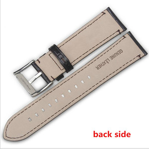 wholesale 22mm Black Brown Genuine Leather Watchband Calfskin Strap with Pin buckle for A*R*24333 A*R*24447
