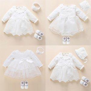 Newborn Baby Girl Dressclothes Крещение Платье Белое крещение Платье для девочки Кружева Vestido Bebe Bebe Bebe 3 6 9 месяцев LJ201221