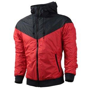 PLUS Taille Mens Vêtements À Manches Longues À Capuche Table à glissière complète Casual Windbreaker Jacket Coat Automne Sports Active Outwear S-3XL