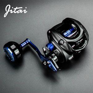 JITAI Baitcasting Fishing Reel Stainless Steel 12BBs 8KG Carbon Drag Carretilha de pesca Coil Wheels Aluminum alloy Handle Knob Q1123