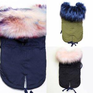 Glorioso Kek Winter Dog Vestiti di lusso Faux Fur Colletto per cani Cappotto per cani per cani da cane Small Caldo Antivento Pet Parka Fleece Foderato Cucciolo Giacca J1216