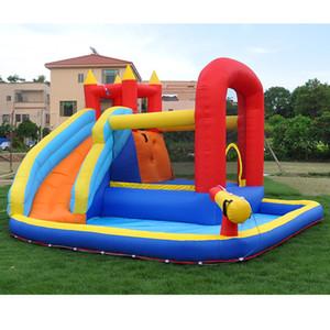 Uso pessoal Inflável Castelo Bouncy com Slide de Água Para Crianças Jogar Fun New Jumper Castle com bola poça de bola ao ar livre exercício do quintal divertimento