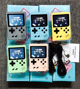 TOP Good Portable Macaron Handheld Game Console video Retro 8 bit Game Players 500 Games 3 In 1 AV GAMES Pocket Gameboy Color LCD