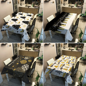 Merry Christmas Tablecloth 3D Print Aesthetic Waterproof Rectangular Dinner Table Cloth Outdoor Picnic Mat Cover Home Decoration