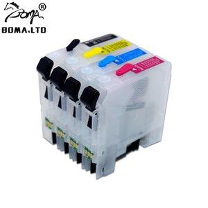 Boma.ltd lc663 lc665 cartucho de tinta de recarga con chip de arco de reinicio automático para su hermano MFC-J2320 MFC-J2720 J2320 J2720 impresora