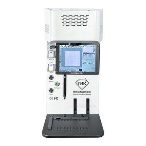 أحدث TBK-958B الليزر فصل آلة الألياف الليزر النقش آلة الظهر الزجاج المزيل آيفون