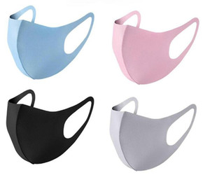 Новая розничная упаковка для лица маска для лица льда шелковый дизайнер защитный рот крышка пылезащитный KPOP многоразовый моющийся удобный хлопок черный Masch Fa1
