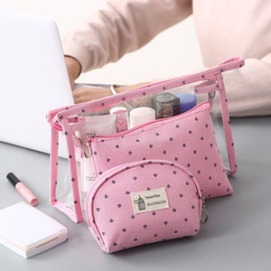 3pcs Set Portable Travel Storage Bag Cosmetic Organizer Transparent PVC Toiletry Bag Organizer Suitcase Makeup Bags