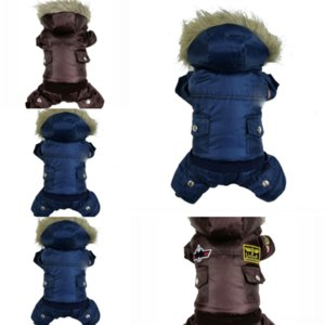 3yY Teddy autumn fighting dener law quilted dog clothe and winter warm dog jacket