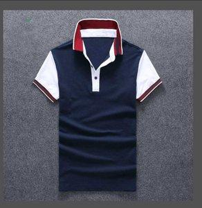 Le nouveau t-shirt d'été T-shirt Broderie Coton revers des hommes Designer T-shirts T-shirts Simple et Simple Shirts Designer