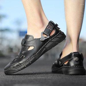 Sandalet 2021 Yaz erkek Plaj Ayakkabı Eğlence Roma Erkekler Açık Yüksek Kaliteli Terlik Yumuşak Dipl1