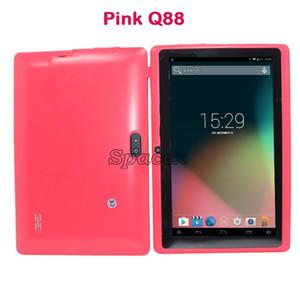 "Multi-color Q88 A33 Mini Tablet PC 7 ""512MB 4GB Quad Core Android 4.4 Allwinner Estudio Entretenimiento Doble cámara WiFi"