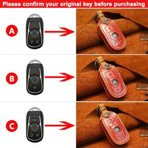 جلد طبيعي سيارة مفتاح شل حالة الغطاء ل بويك ريجال GL8 رويام لاكروس بارك أفنيو جلد نائية سيارة مفتاح سلسلة حامل حقيبة H WMTPOD