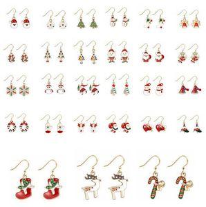Boucles d'oreilles de Noël Cadeaux d'oreille de Noël Cadeaux Arbre de Noël Arbre de Noël Santa Claus Boucle d'oreille Femmes Designer Bijoux Décoration de Noël ZGY819