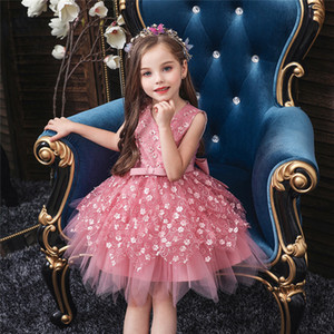 Summer Infant Baby Girl Dress Lace Embroidery Baptism Dresses for Girls 0-10 Year Birthday Party Wedding Baby Clothing Y1130