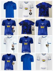 Personnalisé 20-21 Cruzeiro Home de Arrascaeta # 10 Jerseys de football de qualité thaïlandaise M. Moreno # 9 RAFINHA # 7 HENRIQUE # 8 DODO # 18 Fred # 9 Port local