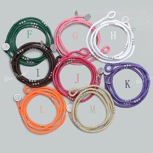 Lotus Mann 13 cor opcional mão-tecida kong prata prata quatro voltas pulseira aplicam-se a homens e mulheres 0825