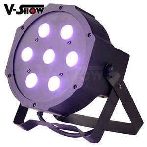 Envío gratis a USA Classic Flat LED Par 7 * 10W RGBW 4IN1 Mega Black Par Light