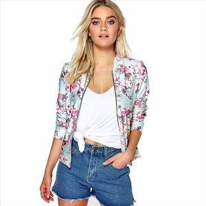 2021 Girls Bomber Jacket Floral Women White Coat Casual Jacket Zipper Black Basic Outerwear Coats Womens Autumn Jackets