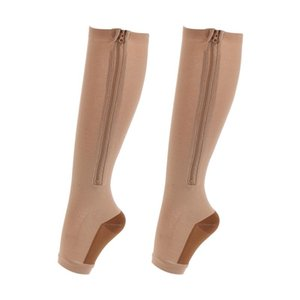 Arch Support Compression Socks Knee High Long Zipper Sports Sleeve Foot Sock Hosiery Footwear Shaping Socks