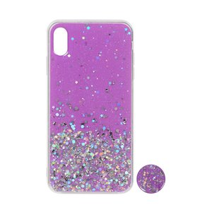 New Design Personalized Gold Powder Print Shining Glue Back Cover Glitter Acrylic TPU Mobile Phone Case For Samsung A10S