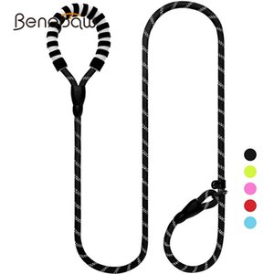 Benepaw-verstellbare Haustierleinen-Halsband 2 in 1 reflektierende gepolsterte Griff-Hunde-Rutsch-Leine-Trainingsseil für kleine mittelgroße Hunde 201106