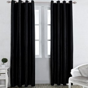 90% High Shading Home Curtains in the living room Decor Solid Color Ready Made Grommet Black Curtains for Kitchen Bedroom