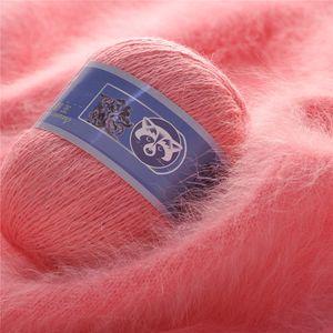 Mink Lana 50 + 20g / Set Lungo Peluche Visone Cashmere Filato Qualità Fine Filo per maglieria a mano per donna Sciarpa cardigan Adatto W-00521