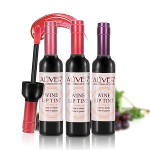 6 colori sexy labbra lucido cosmetici rossi bottiglia di vino impermeabile senza bastone tinta labbra lucido facile da indossare rossetto opaco