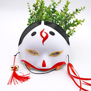 Japanese half-face fox mask upper face women mask plastic dance props dance mask masquerade products Halloween decorations