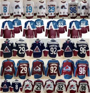 Reverse Retro Colorado Avalanche Jersey Hockey 8 Cale Makar 29 Nathan Mackinnon 92 Gabriel Landeskog 96 Mikko Rantanen 19 Joe Sakic Men