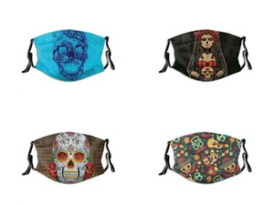 Day of The Dead Mask Popular Luxury Designer personalized custom Face Masks PM2.5 Brand Fashion Pattern Reusable Washable Adjustable