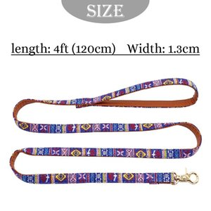 120cm Pet Dog Leash Soft Printed Leather Puppy Dog Leash Lead Padded Walking Training Traction Rope Belt For Small Med bbyHCg