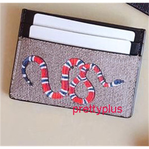 Top Quality snake and tiger card holders for men and women Hot Fashion fashion Wallets High quality small purses card holder with box