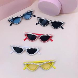 2021 new Boutique kids sunglasses fashion rhinestone girls sunglasses  kids glasses ultraviolet-proof girls glasses B3485