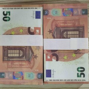 50 Atmosphere Faux Stage Billet Toy Money Euro Prop Adult Children Copy Bar Festival Party Banknote Holiday Gifts Trick Curr Gijlq