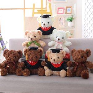 Teddy Dr. Bear Cub Boneca Pelúcia Brinquedo Pequeno Presente Para A Graduação Graduação JZ9K