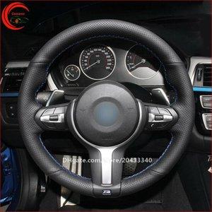 Черная кожаная крышка руля автомобиля для BMW F11 F07 F12 F13 F06 X3 F25 X4 F26