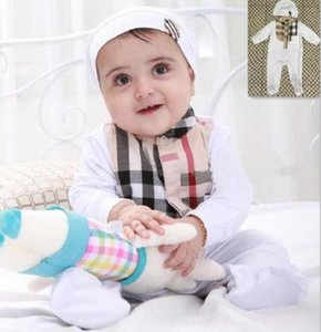 Newborn Jumpsuits Baby Boys Girls Romper Tag 2Pcs set Jumpsuit + Hat Infant Clothing Pajamas Toddler Baby Clothes Outfits
