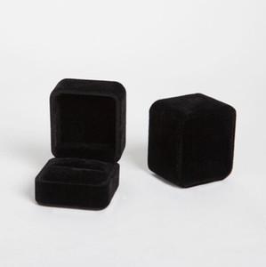 Jóias caixa de veludo anel caixa de armazenamento quadrado organizador de embalagem de presente para armazenamento de jóias dobrável presente de presentes festas de festa ppc5452