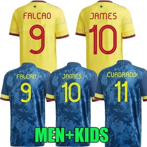 Colombie 2020 2021 Duván Zapata Jersey de football 21 22 Davinson Sánchez James Copa America Football Shirt Falcao Mina Camiseta de futbol Maillot Version Player Thaïlande