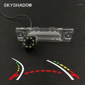 HD سيارة لاسلكية CCD الكاميرا الخلفية Fisheye 4 8 12 LED الرؤية الليلية الديناميكية ل Koleos 2009 2012 2012 2012 20141 2014