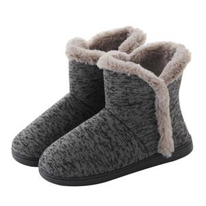 Zapatillas para mujer Plus Pelleza de felpa Botas de tobillo de invierno Zapatillas Slippes Slippes para exteriores Zapatos acogedores al aire libre Pareja Y201026