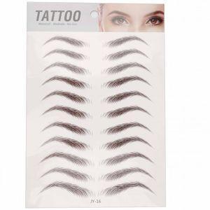 6D Eyebrow Sticker Bionic Tattoo Semi-Permanent Water Transfer Waterproof Embroidery Eyebrow Tattoo Sticker Makeup Supplies