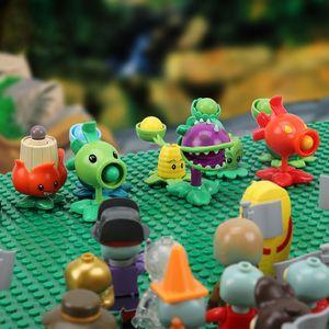 20 PCS Plants vs Zombies Figures Building Blocks PVZ Action Figures Dolls Game Brick Toys For Children Collection Toys For Adult Q1123