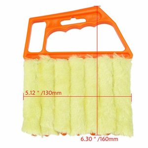 Useful Microfiber Window Car Cleaning Brush Air Conditioner Duster Cleaner With Washable Venetian Blind Blade Cleaning Cloth jlloBM