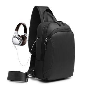 Crossbody Bags Travel School Messengers Bag Men Anti-theft Lock Upscale Chest Bag Fashion Men Shoulder Bags 2020