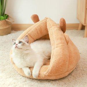 Pet For Cats Dog Soft Nest Kennel Bed Chrismas Slak Shape Cave House Slaapzak Mat Pad Tent Pets Winter Warm Comfortable Beds